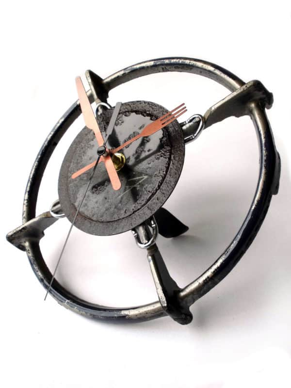 Stove Hob Recycled into Desk Clock Accessories
