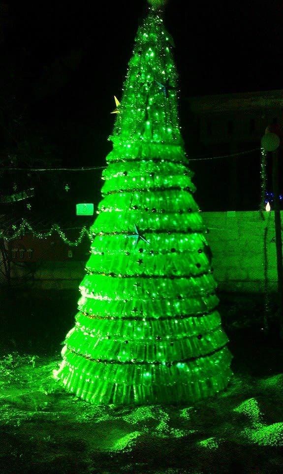 1500 Plastic Bottles Christmas Tree Recyclart