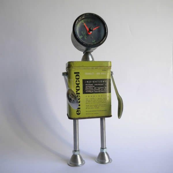 Metal Boxes Recycled in Robots Recycled Art Recycling Metal