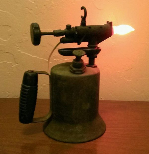 Vintage Gasoline Torch Lamp Lamps & Lights