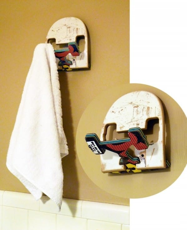 Recycled Skateboards Wall Hook • Recyclart