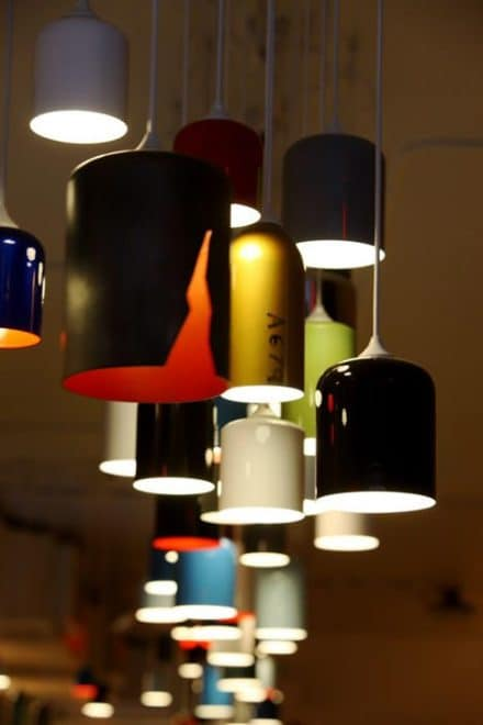 Recycled Fire Extinguisher Pendant Lamps