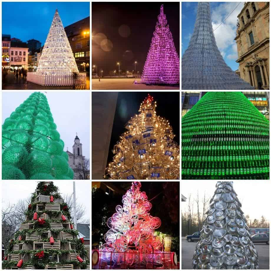 10 Amazing Upcycled Christmas Trees From All Around The World • Recyclart