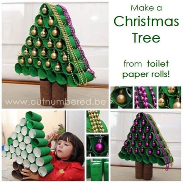 10 Christmas Craft Projects Made Out Of Upcycled Toilet Paper Rolls Do-It-Yourself Ideas Recycled Cardboard