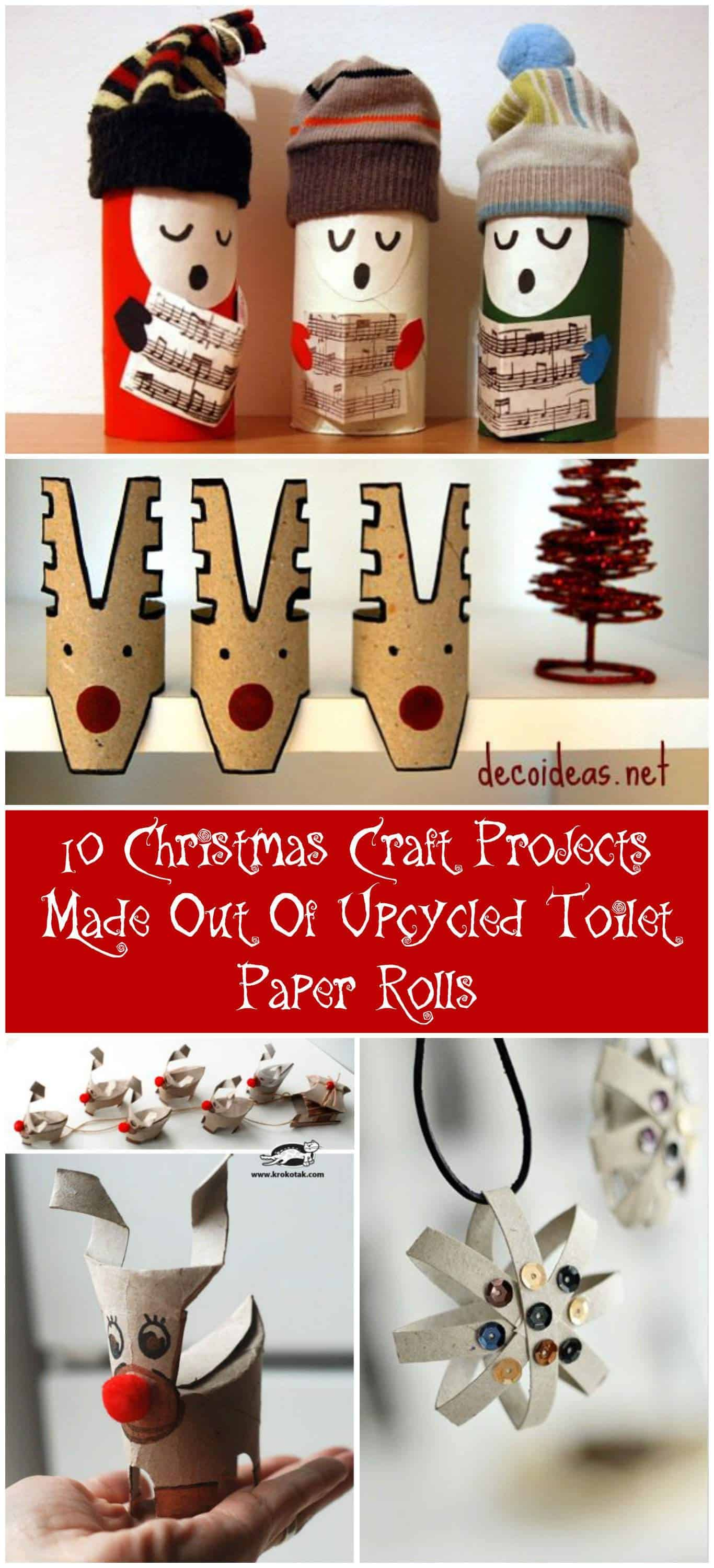 10 christmas craft projects made out of upcycled toilet paper 10 christmas craft projects made out of upcycled toilet paper rolls recyclart jeuxipadfo Choice Image
