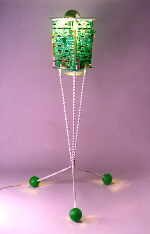 Greensat: Lamp From Old Circuit Boards Lamps & Lights Recycled Electronic Waste