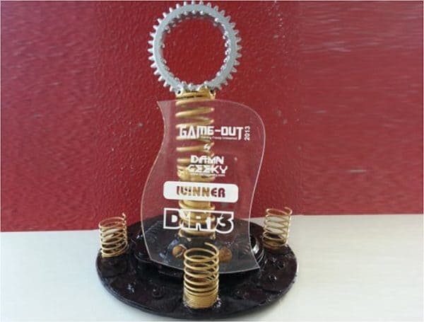 Handmade Trophies From Recycled Car Parts Accessories Mechanic & Friends Recycling Metal
