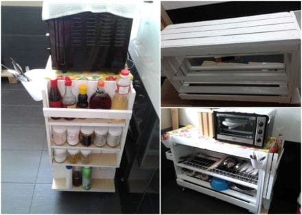 Kitchen Dish Rack From Recycled Pallets