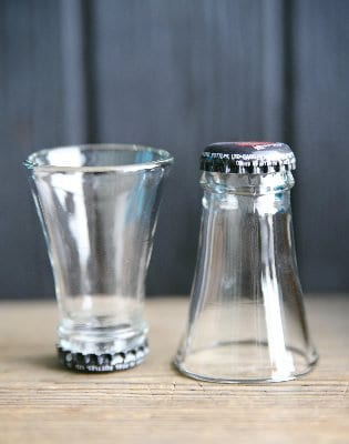 Shot Glass From Upcycled Cutted Bottles Recycled Glass