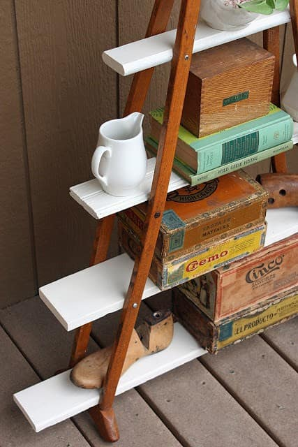 Turn Wood Crutches Into Modern Shelves Do-It-Yourself Ideas Recycled Furniture