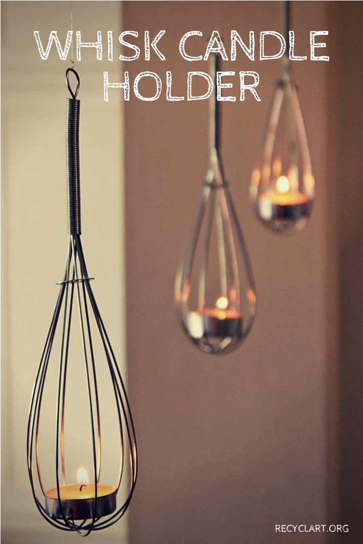 Whisk Candle Holder • Recyclart