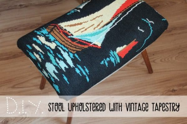 Stool Upholstered with Vintage Tapestry Do-It-Yourself Ideas