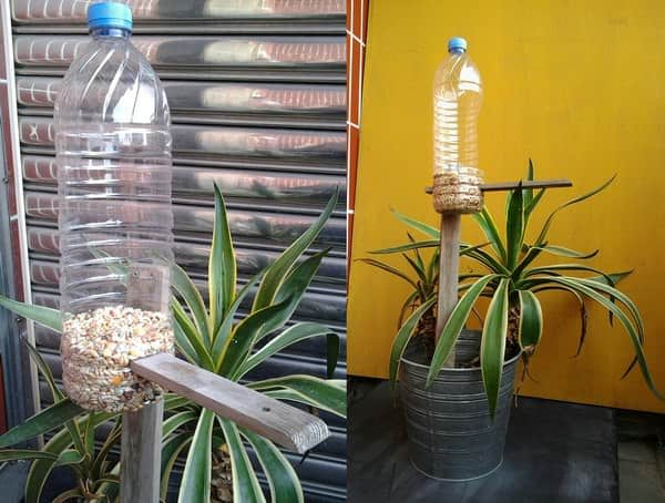 Recycled Plastic Bottle Bird Feeder Do-It-Yourself Ideas