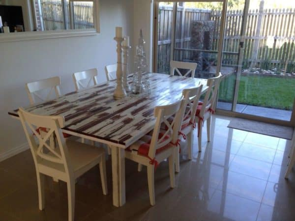 Table Made From Old Picket Fence Recycled Furniture