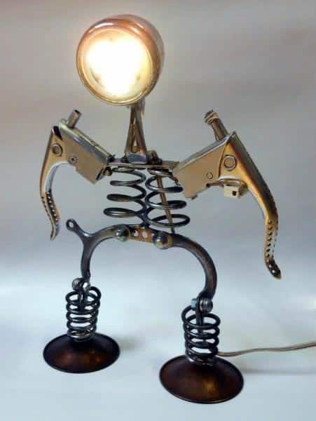 Bicycle Part Lamps by Ilmecca Produzioni Lamps & Lights Upcycled Bicycle Parts