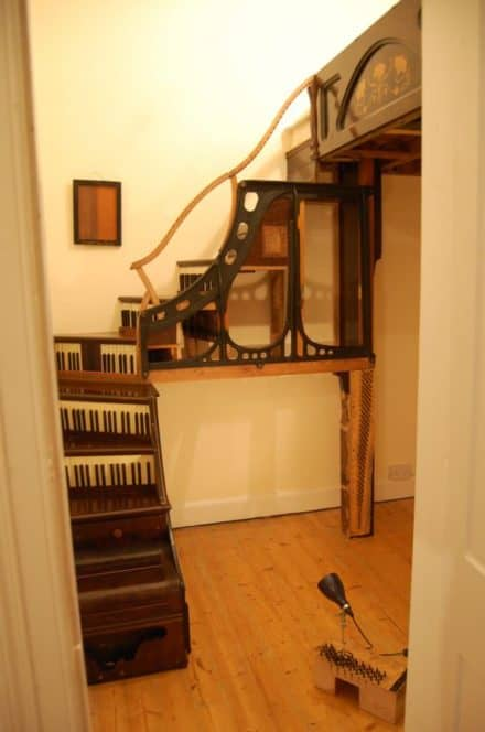 Upcycled Piano Staircase