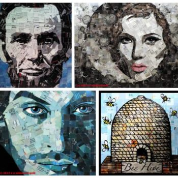 Fine Art From Upcycled Junk Mail