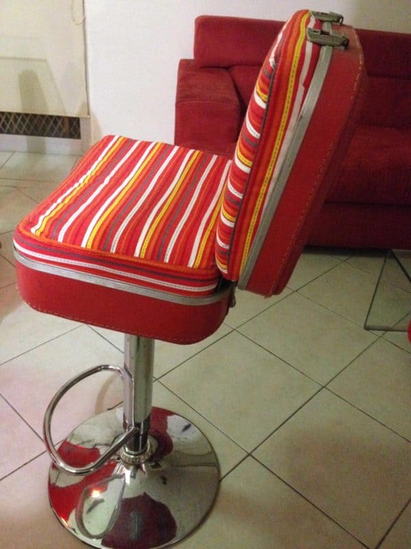 Chair Made With Vintage Suitcase Recycled Furniture