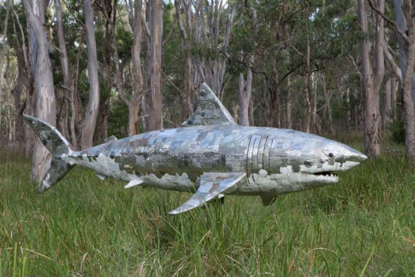 Great White Shark Recycled Art Recycling Metal