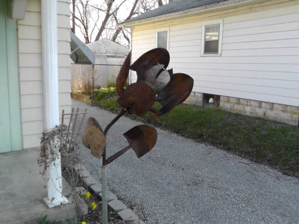 Shovel Flower Recycled Art Recycling Metal