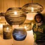 Pendant Cardboard Lamps