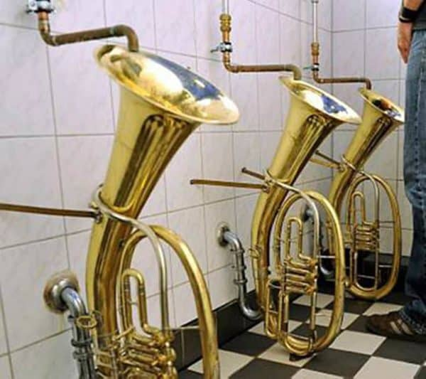 Trombones Urinals Recycled Furniture