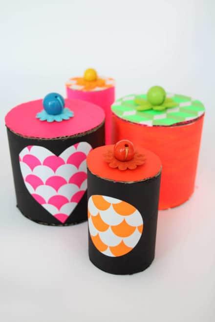 Diy: Paper Tube Jars