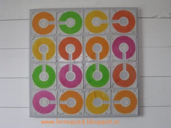 Floppy Disks Became Wall Decorations Recycled Art Recycled Electronic Waste