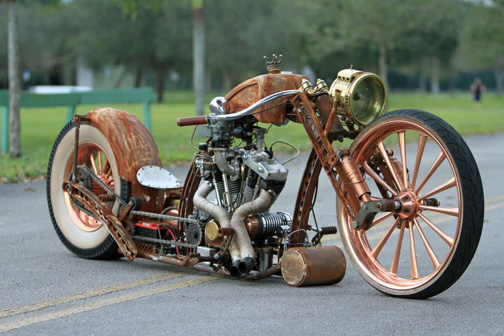 Amazing Steampunk Motorcycle u2022 Recyclart