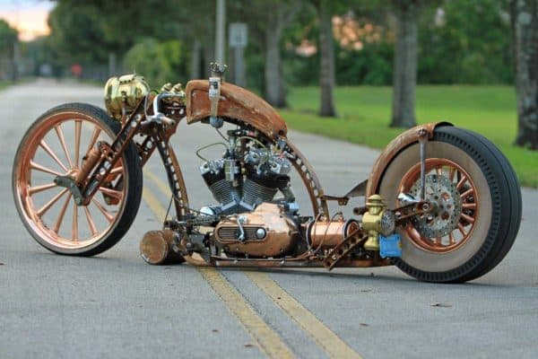 Amazing Steampunk Motorcycle Recycling Metal