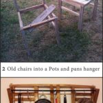 Old Chairs Turned Into Pots & Pans Hanger