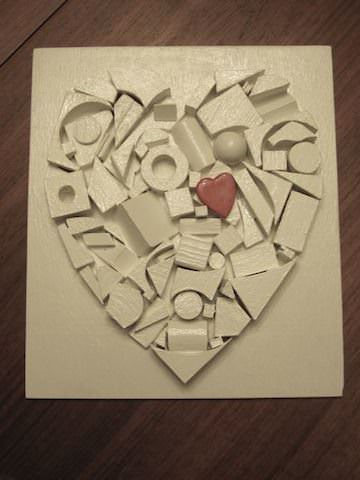 Corazón De Mi Corazón (Heart of My Heart) Recycled Art