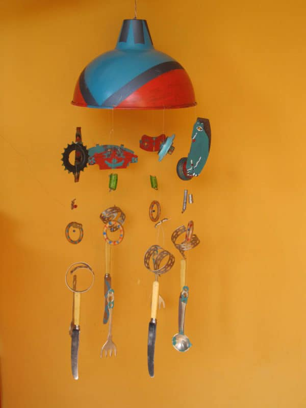 Wind Chimes from Recycled Metal Objects Recycling Metal