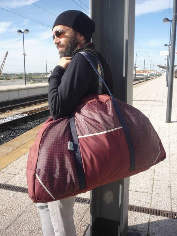 Umbrella Upcycled into Travel Bag Accessories