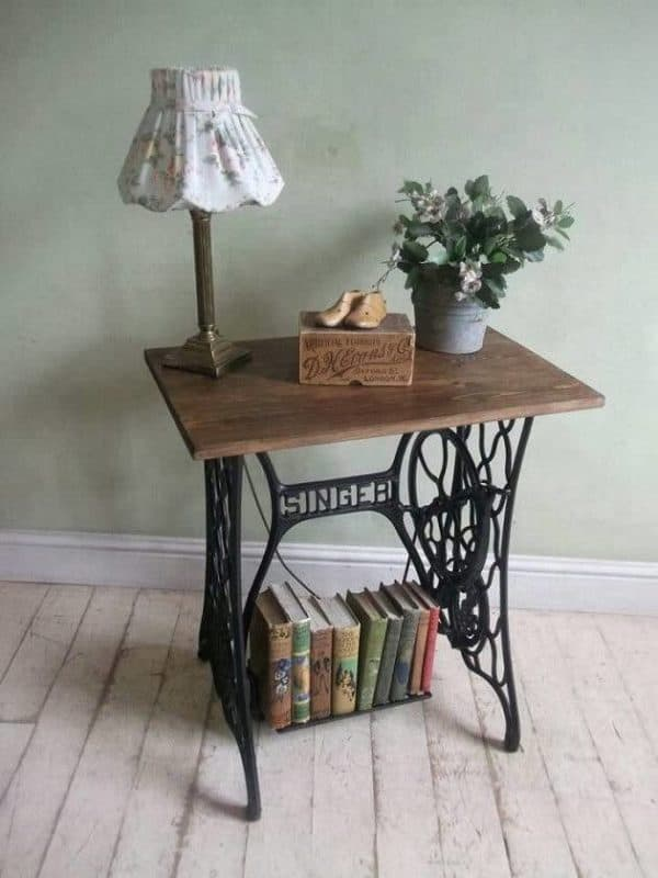 60 Ideas To Recycle Vintage Sewing Machines Recycled Furniture
