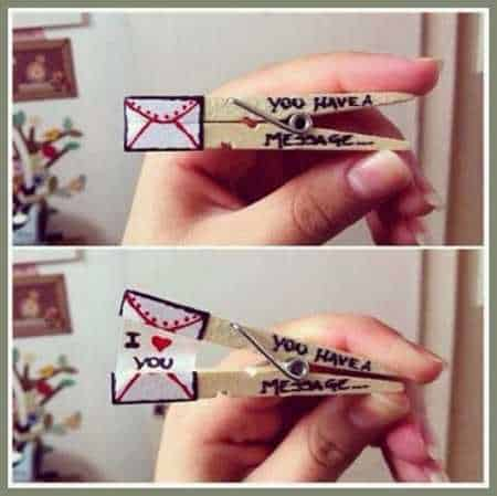 Clothespin Love Message Do-It-Yourself Ideas