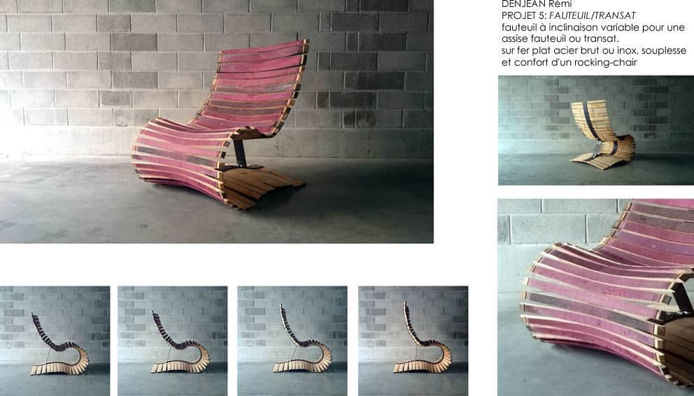 Design Furnitures And Objects Made From Recycled Wine Barrel Staves