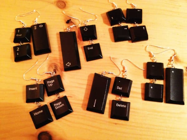 Keyboard Earrings Recycled Electronic Waste Upcycled Jewelry Ideas