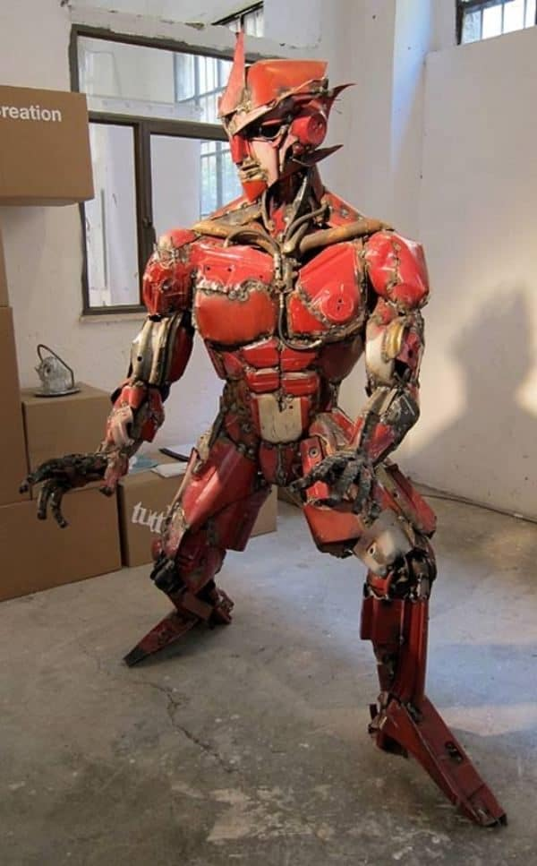 The Real Transformer: Made from an Old Car Mechanic & Friends Recycled Art Recycling Metal