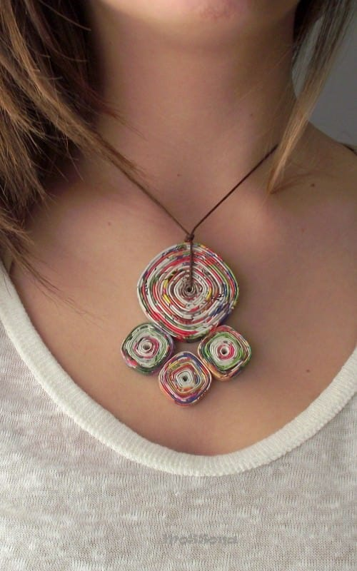 Paper & Cardboard Jewelry Recycled Cardboard Upcycled Jewelry Ideas