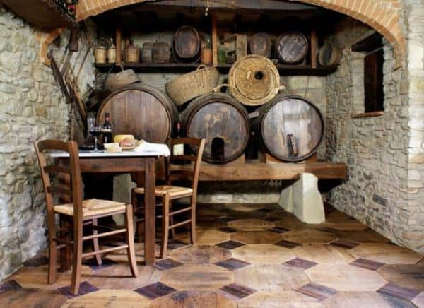 Repurposed Wine Barrels Parquet Wood & Organic