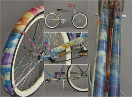 Recycled Kid Art Bike