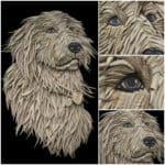 Dog Portrait from Corrugated Cardboard by Ali Golzad