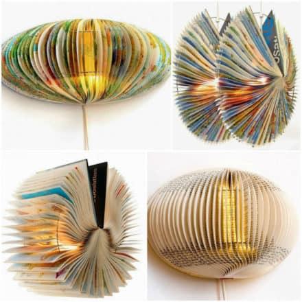 Sculptural Book Lamps by Bomdesignnl