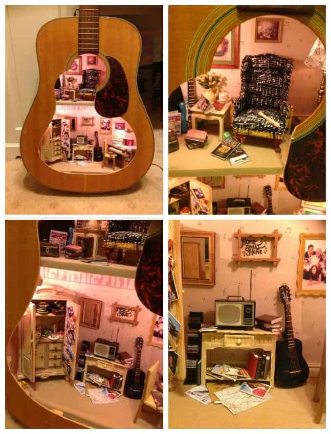 Upcycled Guitar Into Doll House • Recyclart