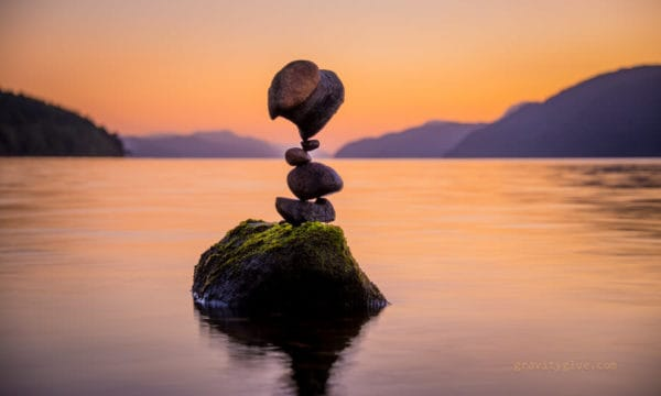 Gravity Glue: The Art of Balancing Rocks Recycled Art