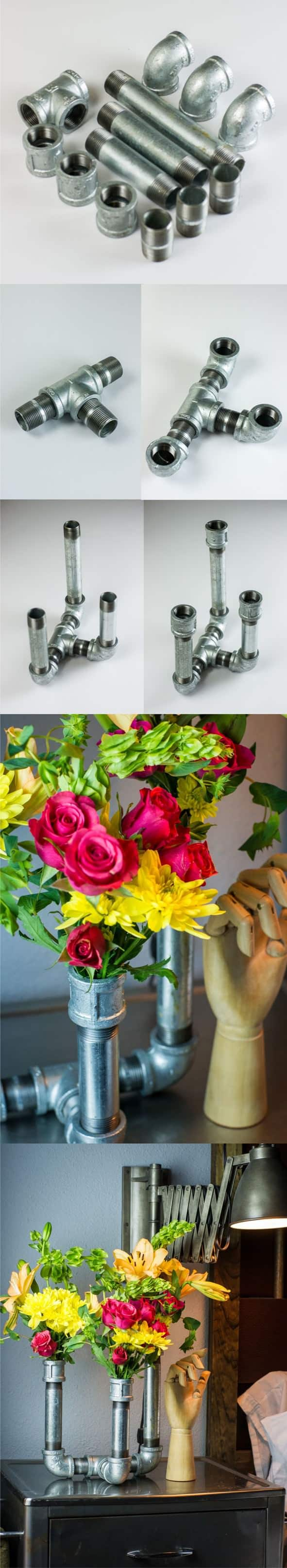 Galvanized Pipe Vase Do-It-Yourself Ideas
