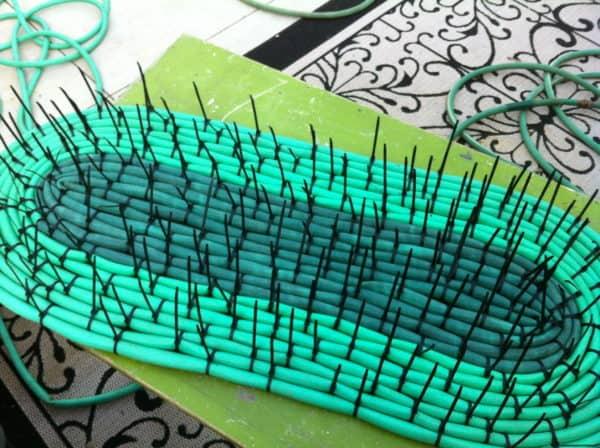 Recycled Hoses into Garden Mat Do-It-Yourself Ideas Garden Ideas