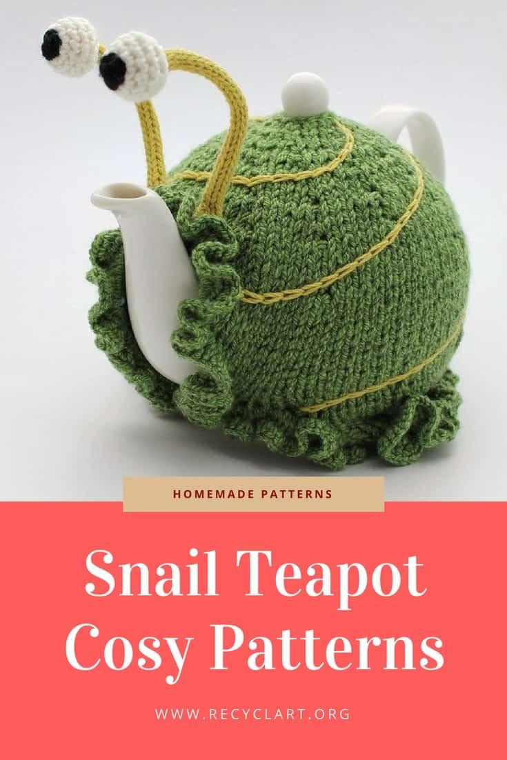 Snail Teapot Cosy Patterns • Recyclart