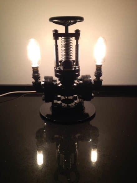 Repurposed Steam Valve into Table Lamp